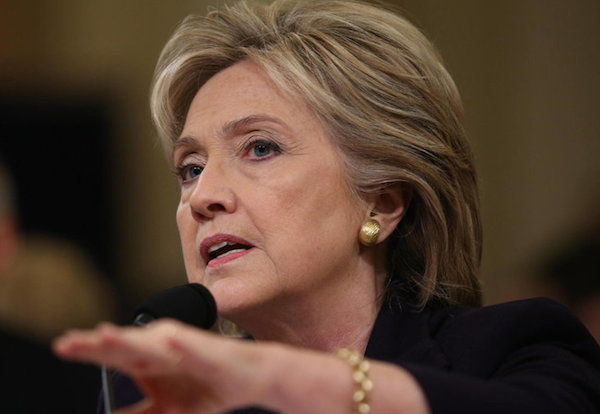 Clinton Testi-lying at today's Benghazi Committee Hearing